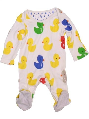 Pyjama 1 pièce garçon MARKS & SPENCER blanc naissance été #1450494_1