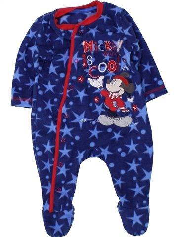 Pyjama 1 pièce garçon GEORGE bleu 3 mois hiver #1451483_1