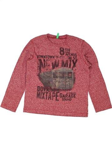T-shirt manches longues garçon BENETTON rouge 7 ans hiver #1452079_1