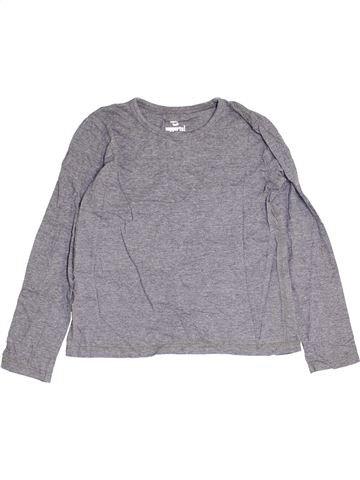 T-shirt manches longues garçon PEPPERTS gris 10 ans hiver #1452191_1