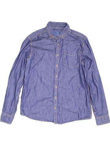 Chemise manches longues garçon DEBENHAMS violet 13 ans hiver #1453031_1