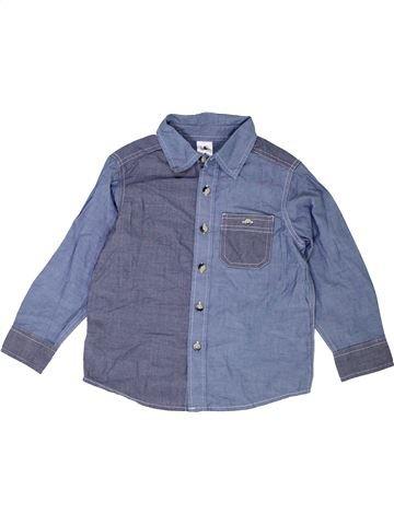 Chemise manches longues garçon H&T gris 4 ans hiver #1453125_1