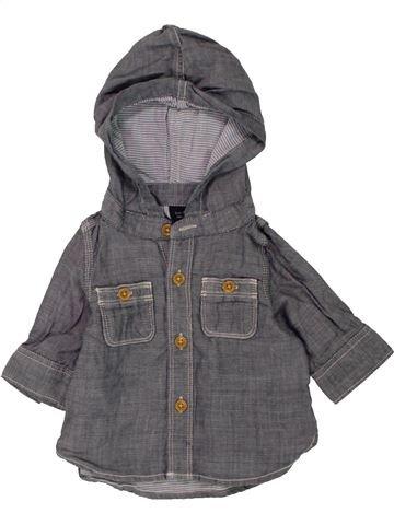 Chemise manches longues garçon GAP gris 3 mois hiver #1453316_1