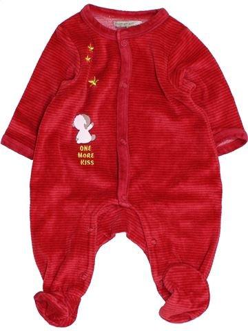 Pyjama 1 pièce garçon PREMAMAN rouge 1 mois hiver #1453663_1