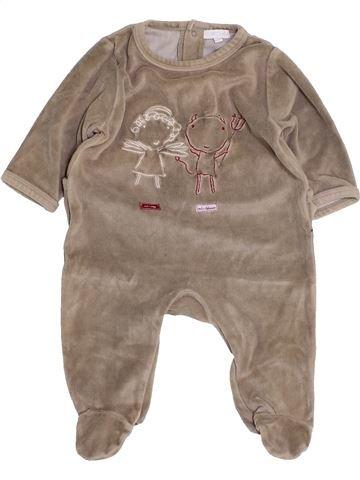 Pijama de 1 pieza niño DPAM beige 3 meses invierno #1453672_1