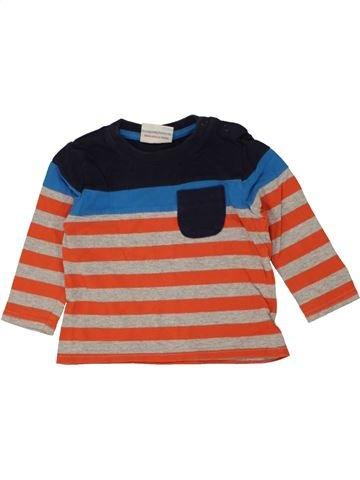 T-shirt manches longues garçon TOPOMINI rose 12 mois hiver #1453914_1