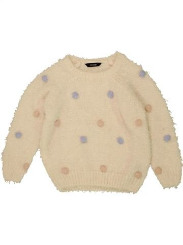 Pull fille GEORGE blanc 7 ans hiver #1453953_1