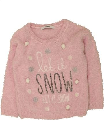Pull fille GEORGE rose 2 ans hiver #1454536_1