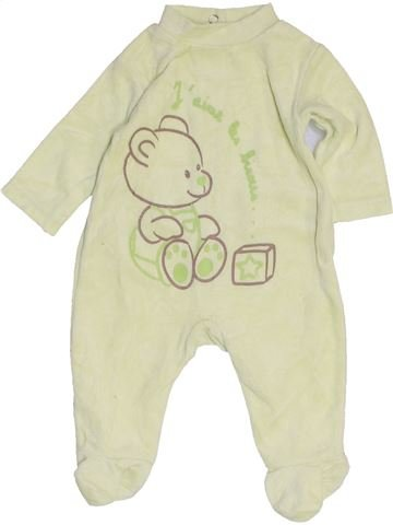 Pyjama 1 pièce garçon KIMBALOO beige naissance hiver #1454996_1