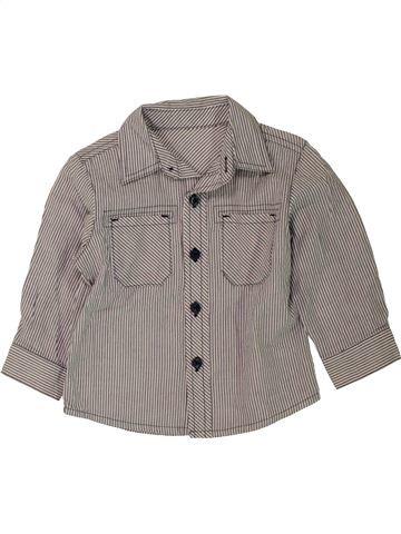 Chemise manches longues garçon MOTHERCARE gris 12 mois hiver #1455092_1