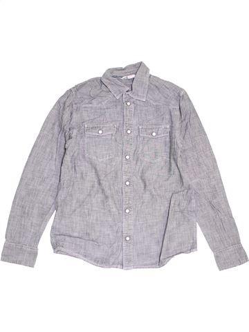 Camisa de manga larga niño H&M gris 12 años invierno #1455865_1