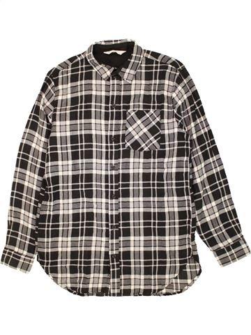Camisa de manga larga niño H&M marrón 14 años invierno #1456920_1