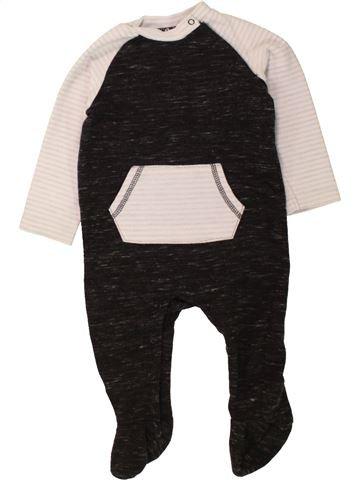Pyjama 1 pièce garçon F&F noir 9 mois hiver #1457132_1