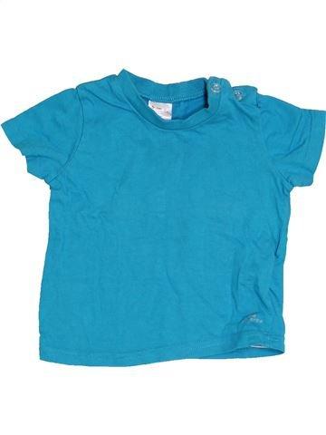 Camiseta de manga corta niño DOMYOS azul 12 meses verano #1457378_1