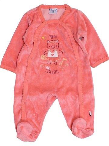 Pijama de 1 pieza niña ABSORBA rosa 1 mes invierno #1457431_1