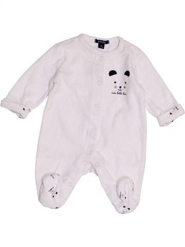 Pijama de 1 pieza unisex KIABI blanco 1 mes invierno #1457475_1