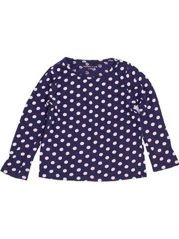 T-shirt manches longues fille MONOPRIX bleu 3 ans hiver #1457518_1
