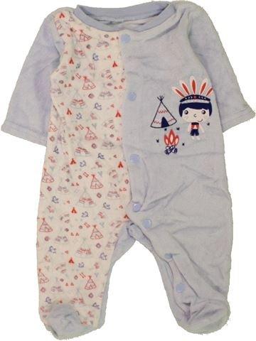 Pijama de 1 pieza niño SANS MARQUE blanco 1 mes invierno #1457552_1