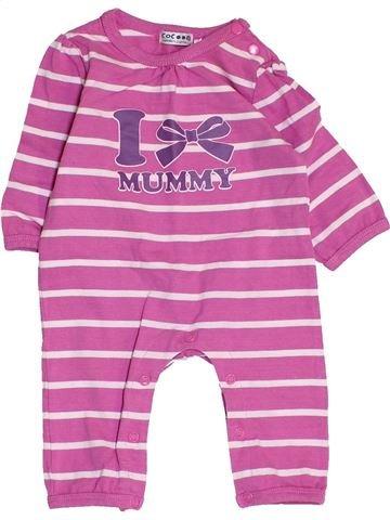 Combinación larga niña LA REDOUTE CRÉATION violeta 3 meses invierno #1457934_1