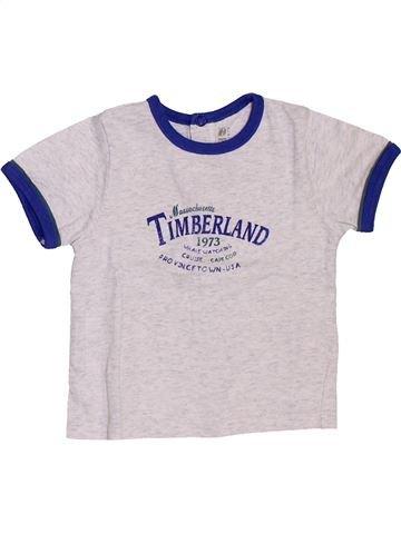 T-shirt manches courtes garçon TIMBERLAND blanc 6 mois été #1458032_1