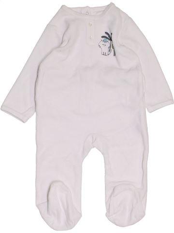 Pijama de 1 pieza niño VERTBAUDET blanco 9 meses invierno #1458051_1