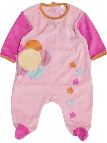 Pijama de 1 pieza niña KIABI violeta 3 meses invierno #1458548_1