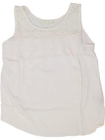 Blusa de manga corta niña GEMO blanco 14 años verano #1458909_1