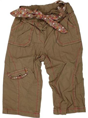 Pantalon fille TOPOLINO marron 18 mois hiver #1458989_1
