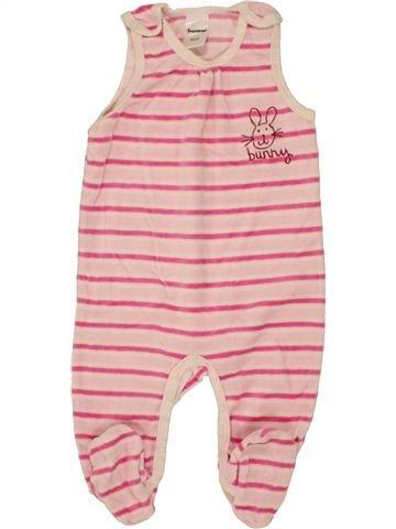 Pyjama 1 pièce fille IMPIDIMPI rose 6 mois hiver #1459007_1