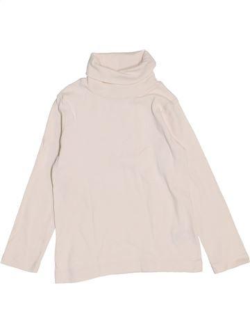 Camiseta de cuello alto unisex PETIT BATEAU blanco 4 años invierno #1459147_1