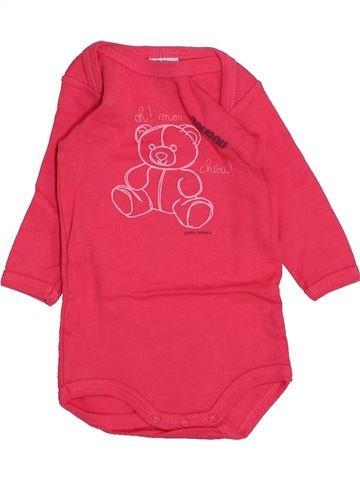 Camiseta de manga larga niña PETIT BATEAU rojo 3 meses invierno #1459166_1