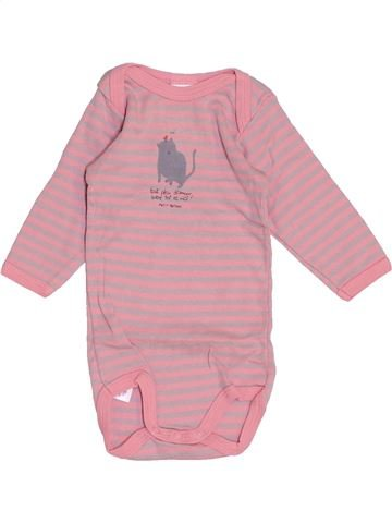 Camiseta de manga larga niña PETIT BATEAU rosa 3 meses invierno #1459169_1