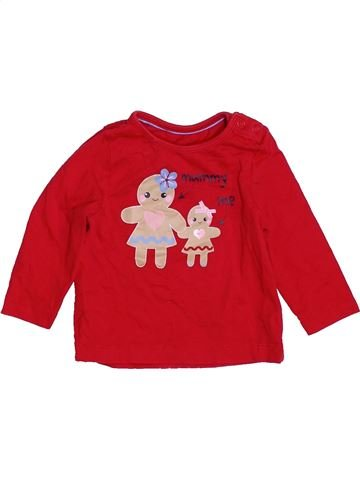 T-shirt manches longues fille MOTHERCARE rouge 6 mois hiver #1459559_1