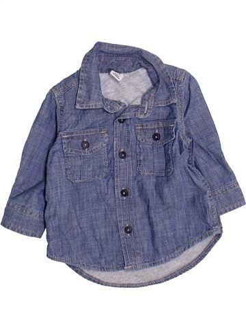 Camisa de manga larga niño GAP azul 6 meses invierno #1460033_1