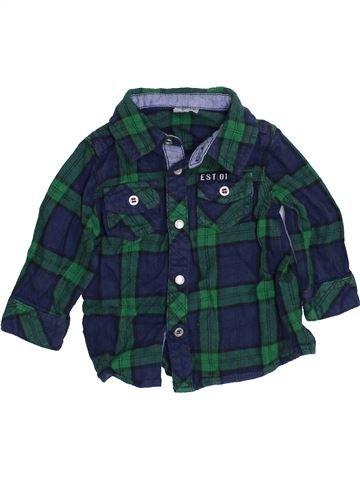 Camisa de manga larga niño F&F azul 6 meses invierno #1460143_1