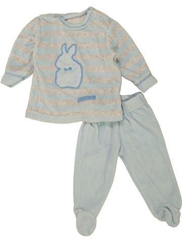 Pijama de 2 piezas niño SANS MARQUE gris 3 meses invierno #1460294_1