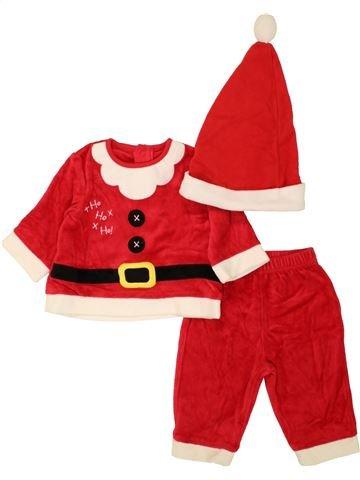 Pijama de 2 piezas niño GEORGE blanco 6 meses invierno #1460424_1