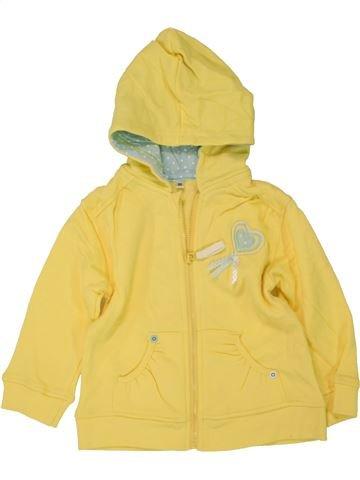 Sweat fille SANS MARQUE jaune 2 ans hiver #1460437_1