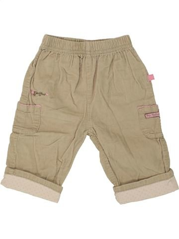 Pantalon fille OKAY beige 6 mois hiver #1460739_1