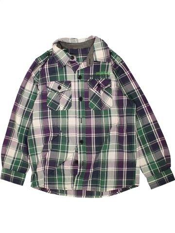 Chemise manches longues garçon YIGGA gris 10 ans hiver #1460743_1