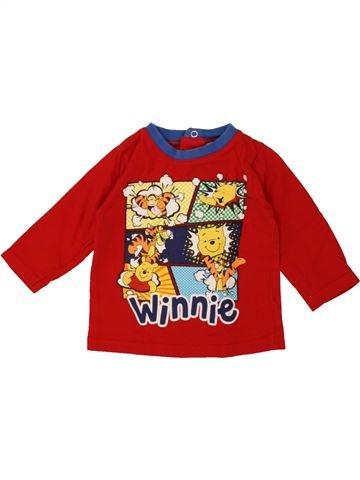 T-shirt manches longues garçon DISNEY rouge 6 mois hiver #1461387_1