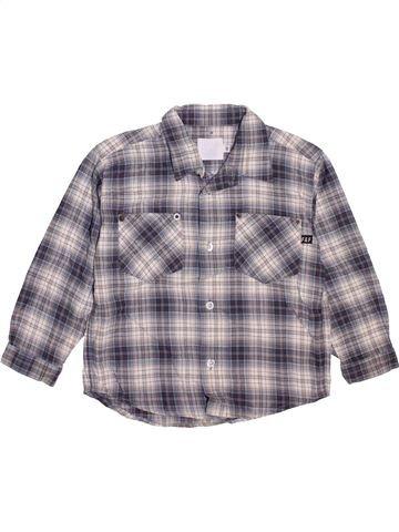 Chemise manches longues garçon FILOU & FRIENDS gris 3 ans hiver #1461559_1