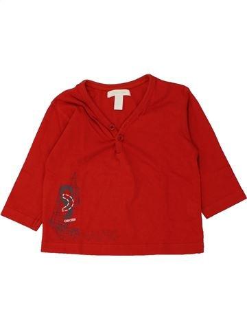 T-shirt manches longues garçon OKAIDI rouge 12 mois hiver #1462146_1