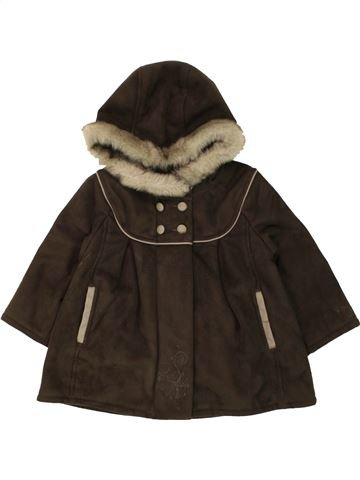 Abrigo niña JEAN BOURGET marrón 18 meses invierno #1462470_1