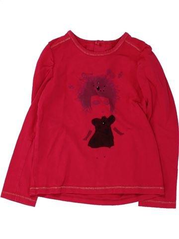 T-shirt manches longues fille CATIMINI rouge 3 mois hiver #1462496_1