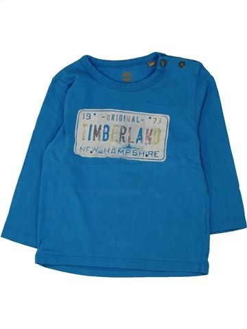 T-shirt manches longues garçon TIMBERLAND bleu 2 ans hiver #1462531_1