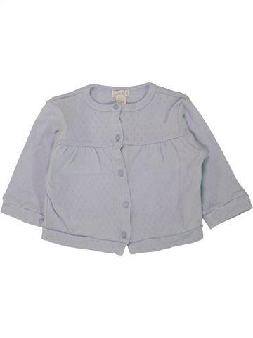 T-shirt manches longues fille OKAIDI gris 6 mois hiver #1462551_1