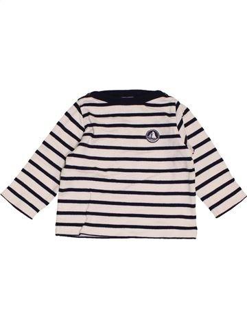 T-shirt manches longues garçon PETIT BATEAU noir 12 mois hiver #1462552_1