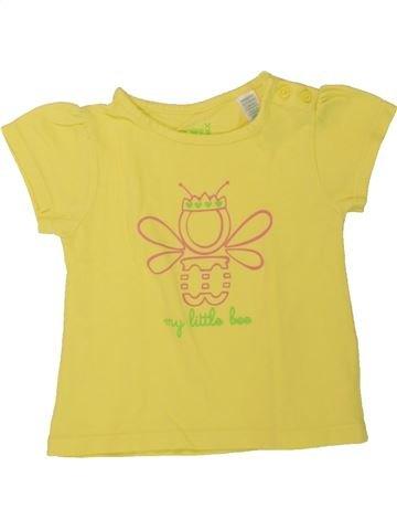 T-shirt manches courtes fille OKAIDI jaune 6 mois été #1462660_1