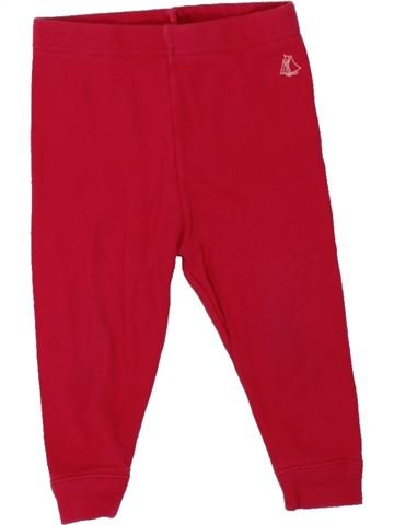 Pantalon fille PETIT BATEAU rouge 6 mois hiver #1462720_1